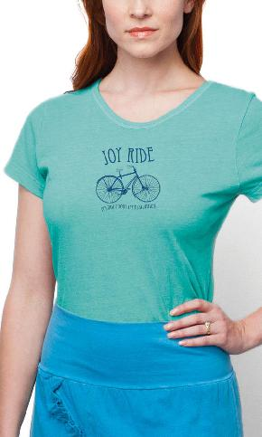 Joy Ride on Ladies Contour Tee