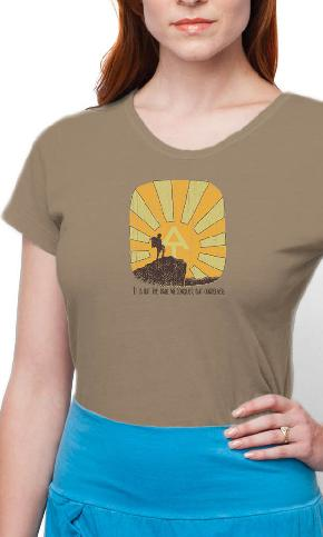 AT Hiker Mountain on Ladies Contour Tee