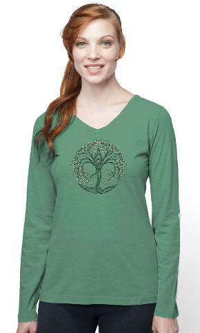 New Tree Pose L/S V-Neck Tee